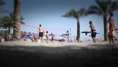Beach volley 1 Stock Footage