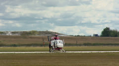 Medicopter 01 with F16 Falcon Stock Footage