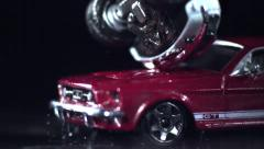 MODEL CARS CRASH # 5 Stock Footage