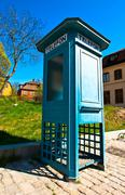 Antique phone booth Stock Photos