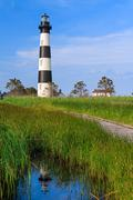 Bodie Island Lighthouse Reflection Stock Photos