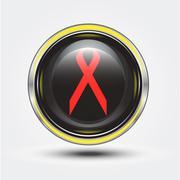 Aids button Stock Illustration