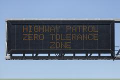 Zero tolerance zone Stock Photos