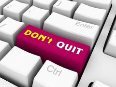 dont give up - stock illustration