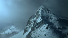 Snow covered mountain top Stock Footage