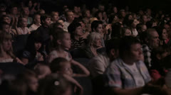 Audience applauded in the theater. Stock Footage