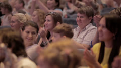 Audience applauded at theatrical performance. Stock Footage