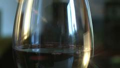 wine, glass, wineglass, bokeh, lens flare - stock footage
