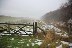 north yorkshire moors - stock photo