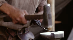 Blacksmith at work 1 - stock footage
