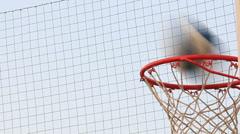 Basketball field goal - success Stock Footage