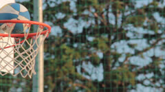 Basketball field goal - success Stock Footage