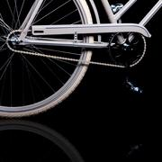 old refurbished retro bike - details - stock photo
