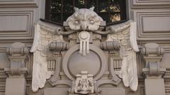 Art Nouveau Owl - stock photo