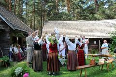 Latvian Baptism/ Christening Stock Photos