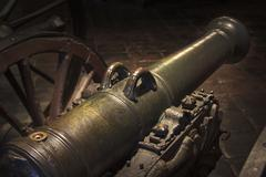 Medieval cannon - stock photo