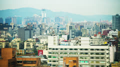 Timelapse City Clouds Shadows and Smog SF040GY - stock footage