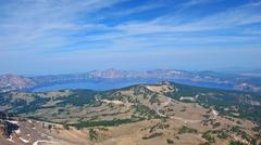 Crater lake, mount scott viewpoint Stock Photos