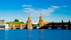Berlin oberbaum bridge Stock Footage