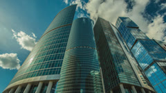 The Moscow sky-scrapers and clouds. Time lapse Stock Footage