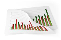 3D Charts - Improvement - stock illustration