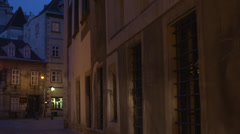 Viennese alley Stock Footage