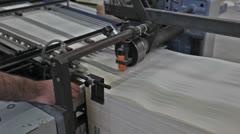 Printing press Stock Footage