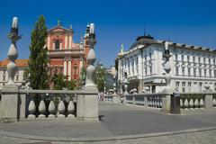 Triple Bridge Ljubljana - stock photo