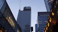 Stock Video Footage of Frankfurt city drive night views from car