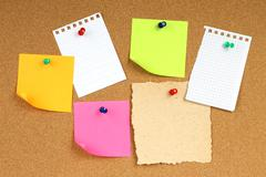 color notes papers - stock photo