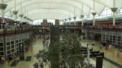 Inside the Main Terminal at DIA - stock footage
