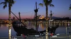 Historic Sailship Stock Footage
