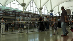 People Arriving at Airport Stock Footage