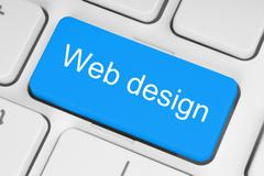 blue web design button . - stock photo