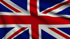 Flag of United Kingdom looping - stock footage