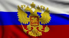 Flag of Russia Gerb looping Stock Footage