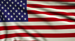Flag of United States looping Stock Footage
