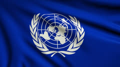 Flag of United Nations looping Stock Footage