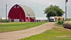 Barn in Midwest Stock Footage