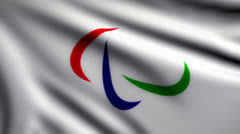 Flag of Paralympic Games looping Stock Footage