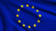 Flag of European Union looping Stock Footage