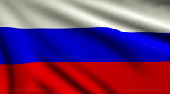 Flag of Russia looping Stock Footage