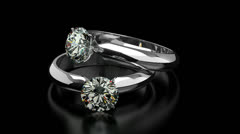 Diamond Rings - stock footage