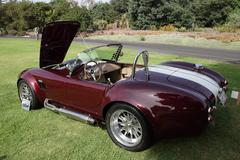 Shelby cobras at the los angeles arboretum Stock Photos