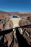 Hooverin pato on Colorado-joki ja järvi Meade Arizona Kuvituskuvat