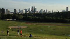Toronto skyline from Riverdale park. 1080p. Stock Footage