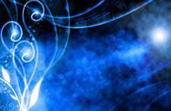 Blue colored festive illustration, background bokeh Stock Illustration