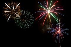 ju;y 4th fireworks display - stock photo