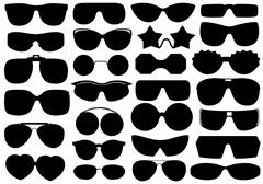 Different Sunglasses Stock Illustration