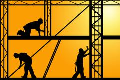 Construction Workers Stock Illustration